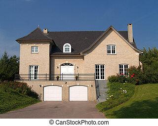 Suburban house. - Rural suburban house with garden in...
