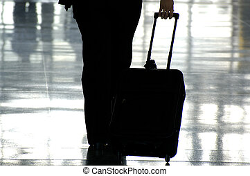 Business Traveller with a Suitcase