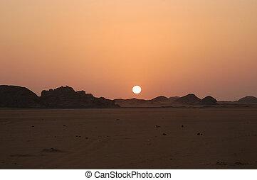 African sunrise - Egyptian desert, Africa