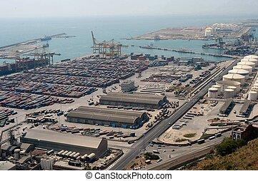 Industrial seaport - Barcelona, Spain