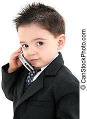 Ragazzo, bambino, cellphone