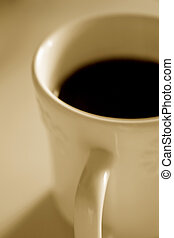 Your Morning Coffee - Toned photo of a morning cup of...