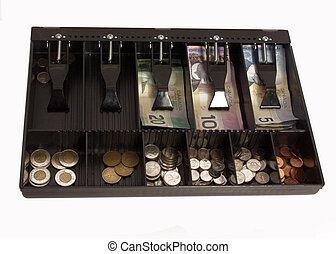 cash register - store's cash register in canadian funds