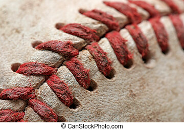 baseball macro abstract with shallow depth of field and...