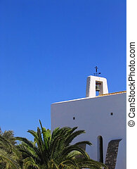 White church in Ibiza - Little typical white church in Ibiza...