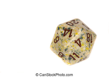 Twenty sided dice - Special 20-sided dice used in fantasy...
