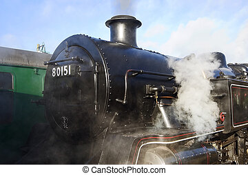 Steam Train - Front of a Steam train at the Bluebell...