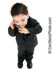 Boy Child Business - Little man discussing important...