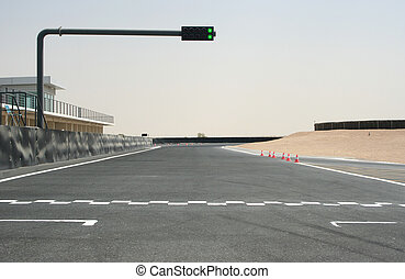 Go Go Go ! - On the starting grid of a kart track with a...