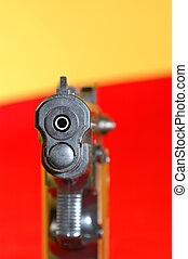 BB GUN 1 - facing the barrel of a bb gun