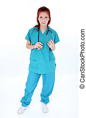 Tired Emergency Room Nurse - Tired emergency room nurse...