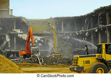 Demolition - Building Under Demolition