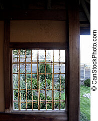 Bamboo Window - Bamboo window in Japan House on a Midwestern...