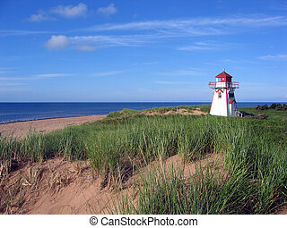 Beach Lighthouse on Prince Edward Island Canada