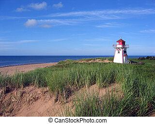 Beach Lighthouse on Prince Edward Island Canada