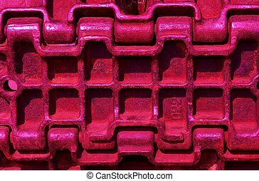 abstract metallic background - abstract red metallic...