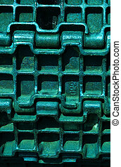 abstract metallic background - abstract green metallic...