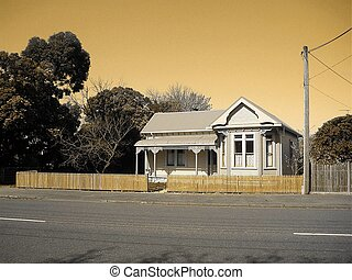 Retro Cottage-sepia - Recently renovated New Zealand...
