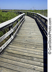 Wooden walkway anhinga trail everglades state national park...