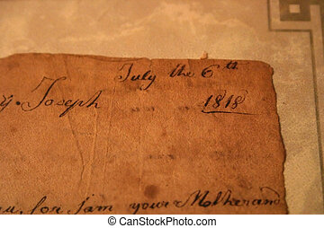 Very Old Letter - A portion of a letter from a mother to her...
