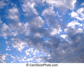 Sky Blue - Blue sky with white scattered clouds