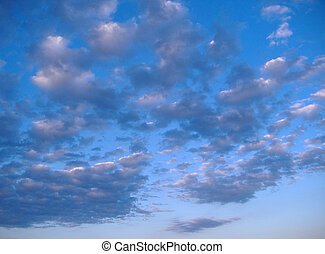 Blue Sky and Clouds - Scattered clouds over blue sky