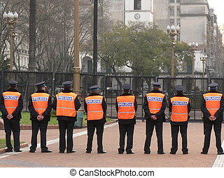 Waiting for Orders - Police in Buenos Aires on Stand-By upon...