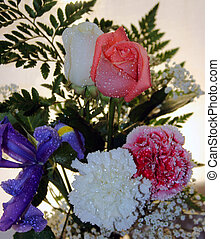 Gift Of Love - Main focus on the roses - A bouquet of...