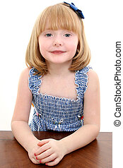 Child Girl Portrait - Portrait of beautiful 4 year old girl...
