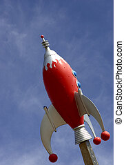 Rocket against sky - Rocket against blue sky