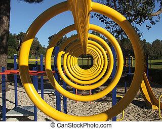 Playground equipment - monkey bars - Playground equipment -...