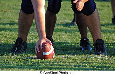 Hike-Hike---HIKE! - The center prepares to snap the football...