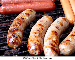 Fire Up The Grill - Hot dogs, bratwursts and sausage are...