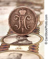 moneda, usado