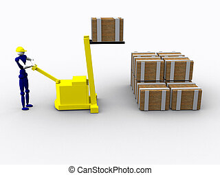 3d Worker vol 4 - 3d Worker loading supplies