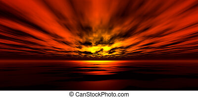 Sunset background - Sunset/sunrise background, digitaly...