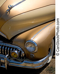 The Golden Years - Photo of a golden car from the 50's