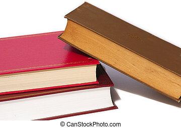 fallen books - books fallen over
