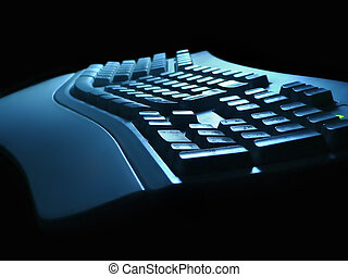 Keyboard night view - Keyboard view at night