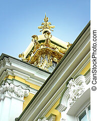 Gold cupola with two heads eagle