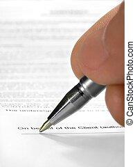 署名, 契約
