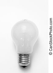 Light Bulb - Isolated image of a light bulb on a white...