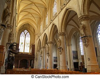 Gothic church interior - Interior of the Gothic Kapellekerk...