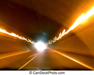 abstract tunnel - abstract image with the blurred lines from...