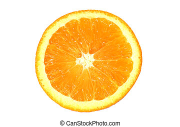 Orange Slice - Orange slice on white background.
