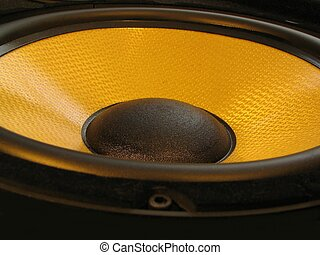 Loudspeaker - High tech bass loudspeaker close-up