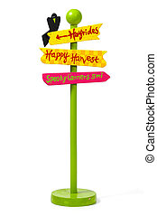 Holiday Street Sign - Fall Season Street Sign