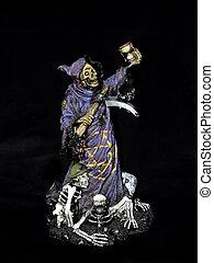 Halloween, grim reaper. - Halloween grim reaper with victims...