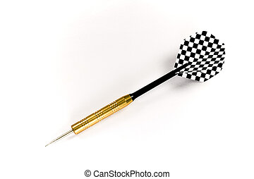 Isolated black dart - A dart with black shaft and black and...