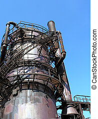 Obsolete Machinery - A small section of the old refinery at...